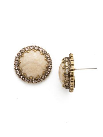 Ballota Earring in Antique Gold-tone Sandstone