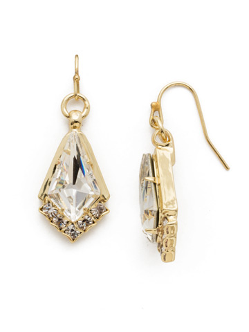 Ice Queen Earring in Bright Gold-tone Crystal