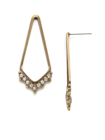 Free Fall Earring in Antique Gold-tone Crystal