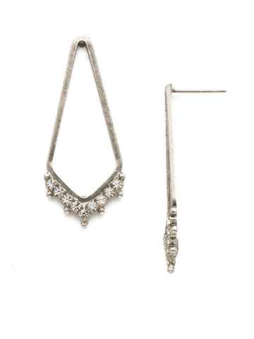 Free Fall Earring in Antique Silver-tone Crystal