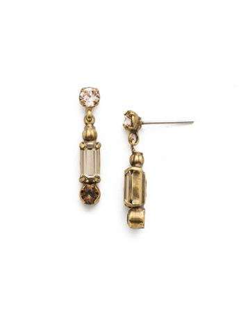 Fescue Earring in Antique Gold-tone Sandstone
