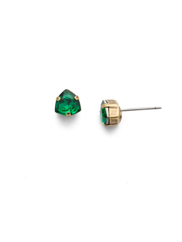 Sedge Earring in Antique Gold-tone Game of Jewel Tones
