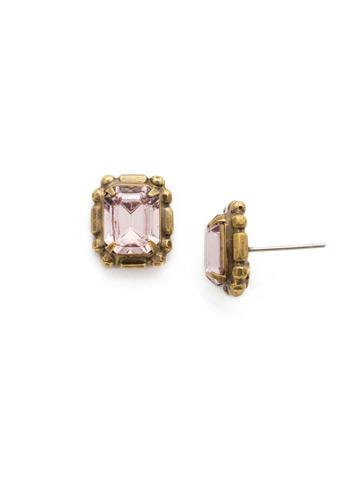 Olea Stud Earring in Antique Gold-tone Royal Plum