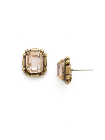 Olea Stud Earring in Antique Gold-tone Sandstone