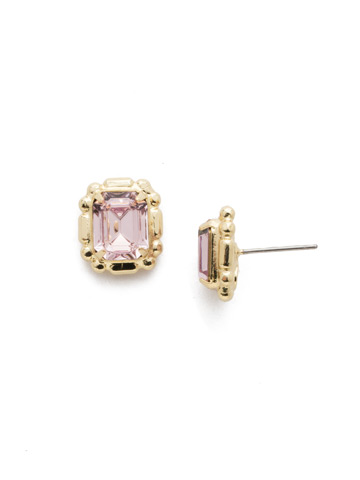 Olea Stud Earring in Bright Gold-tone Candy Pop