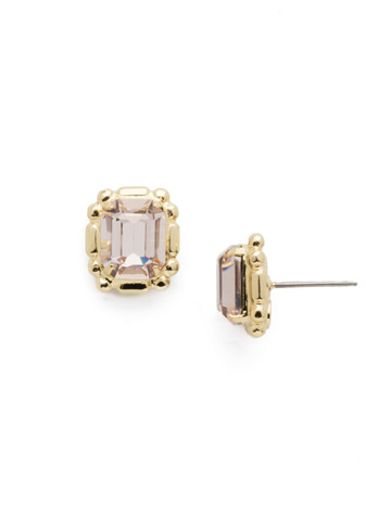 Olea Stud Earring in Bright Gold-tone Silky Clouds