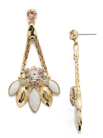 Harmony Statement Earring in Bright Gold-tone Silky Clouds