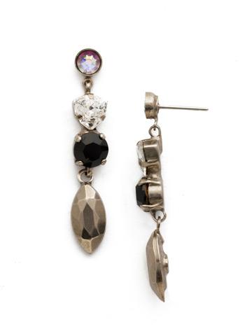 Toyon Earring in Antique Silver-tone Black Tie