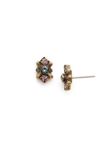 Aralia Earring in Antique Gold-tone Royal Plum