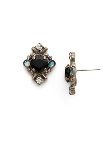 Stonecrop Earring in Antique Silver-tone Black Tie