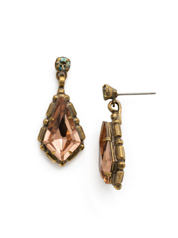 Hawthorn Earring in Antique Gold-tone Sandstone