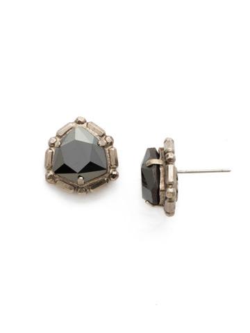 Primula Earring in Antique Silver-tone Black Tie