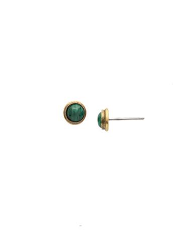 Aja Stud Earring in Antique Gold-tone Wild Fern