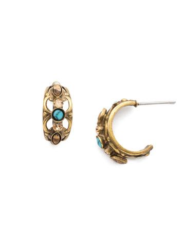 Fia Mini Hoop Earring in Antique Gold-tone Driftwood