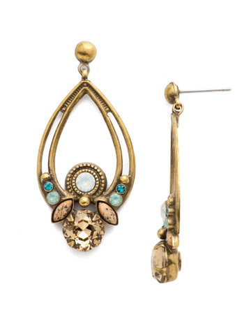 Emilia Statement Earring in Antique Gold-tone Driftwood