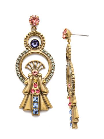Lucrezia Statement Earring in Antique Gold-tone Bohemian Bright