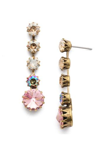 Giordana Post Drop Earring in Antique Gold-tone Beach Comber