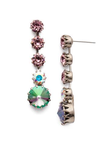 Giordana Post Drop Earring in Antique Silver-tone Stargazer