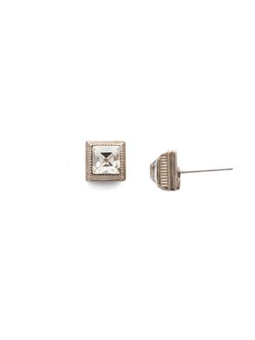 Pasquelina Stud Earring in Antique Silver-tone Pastel Prep