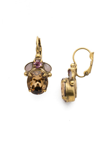 Mariella French Wire Earring in Antique Gold-tone Beach Comber