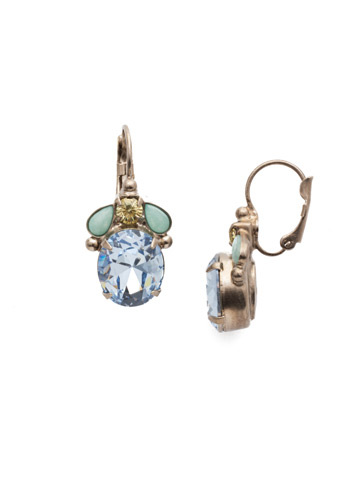 Mariella French Wire Earring in Antique Silver-tone Pastel Prep
