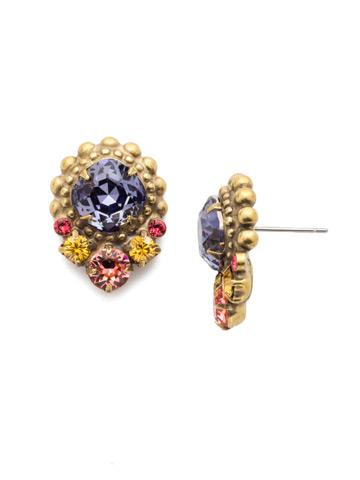 Giulia Stud Earring in Antique Gold-tone Bohemian Bright