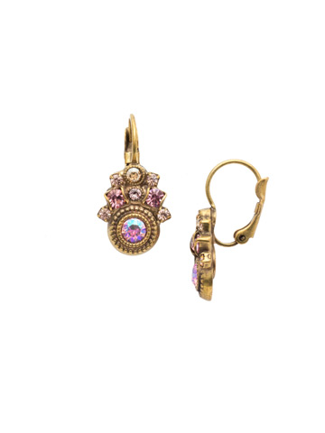 Clarice French Wire Earring in Antique Gold-tone Beach Comber