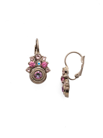 Clarice French Wire Earring in Antique Silver-tone Stargazer