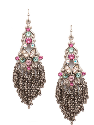 Fiorentina Statement Drop Earring in Antique Silver-tone Stargazer