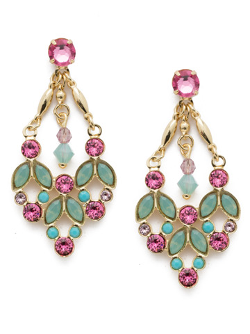 Terina Post Drop Earring in Bright Gold-tone Candy Pop