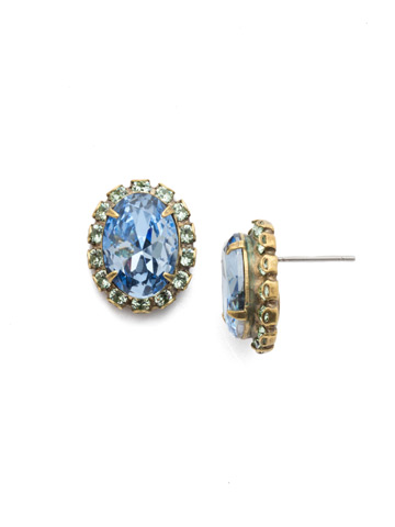Vivia Stud Earring in Antique Gold-tone Bohemian Bright