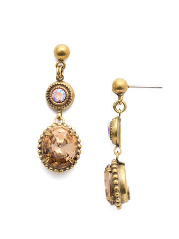 Ortensia Post Drop Earring in Antique Gold-tone Beach Comber