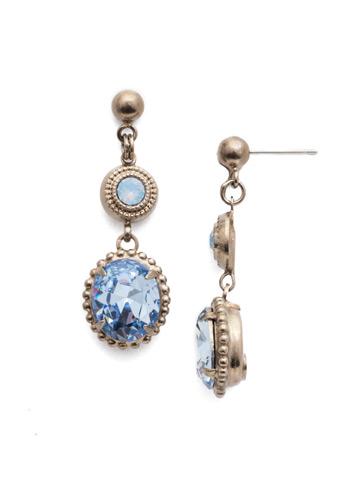 Ortensia Post Drop Earring in Antique Silver-tone Pastel Prep