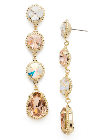 Louisa Statement Drop Earring in Bright Gold-tone Silky Clouds