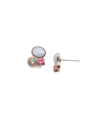 Vicenza Stud Earring in Antique Silver-tone Stargazer