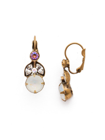 Genoviva French Wire Earring in Antique Gold-tone Rocky Beach
