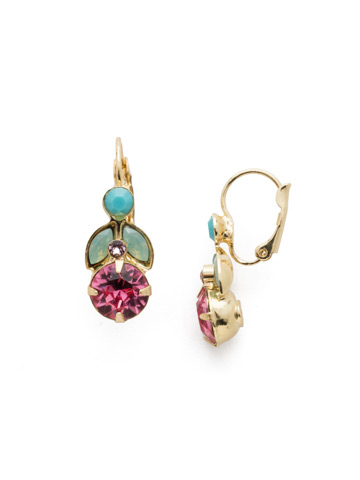 Genoviva French Wire Earring in Bright Gold-tone Candy Pop