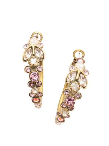 Petronilla Hoop Earring in Antique Gold-tone Beach Comber