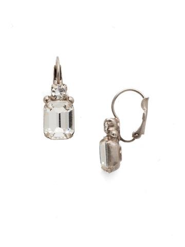Zelmira Stud Earrings in Antique Silver-tone Crystal