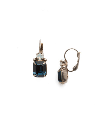 Zelmira French Wire Earring in Antique Silver-tone Glory Blue