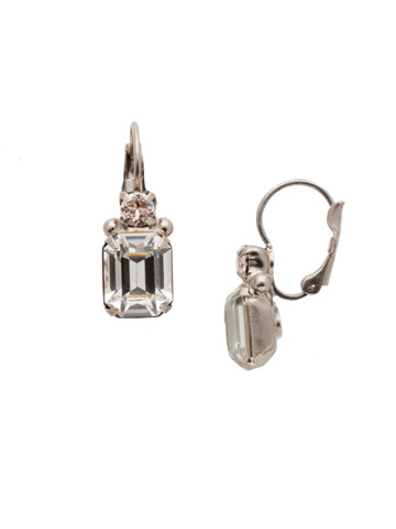 Zelmira French Wire Earring in Antique Silver-tone Soft Petal