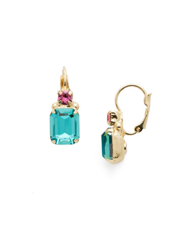 Zelmira French Wire Earring in Bright Gold-tone Candy Pop