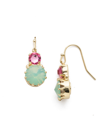 Adelina Drop Earring in Bright Gold-tone Candy Pop