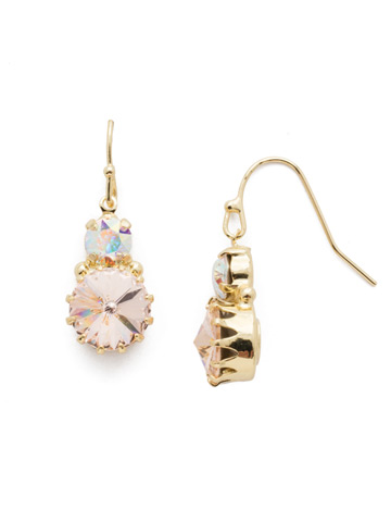 Adelina Drop Earring in Bright Gold-tone Silky Clouds