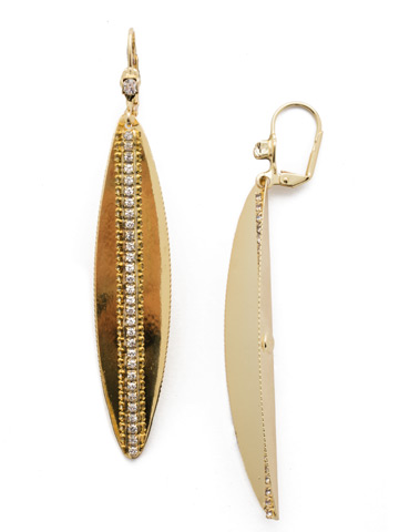 Leif Drop Earring in Bright Gold-tone Crystal