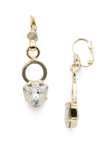 Daniela French Wire Earring in Bright Gold-tone Crystal