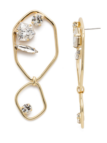 Finley Statement Earring in Bright Gold-tone Crystal