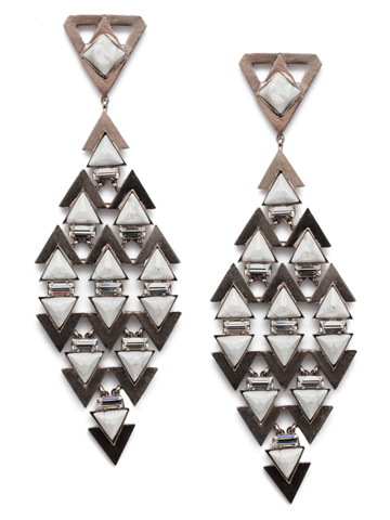 Fable Statement Earring in Antique Silver-tone Industrial
