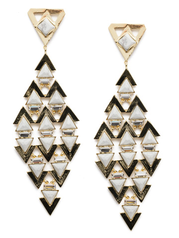 Fable Statement Earring in Bright Gold-tone Industrial
