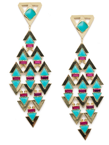 Fable Statement Earring in Bright Gold-tone Precious Bright